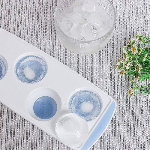 Meowtutu Eiswürfelform, 3 Stück Silikon Eiswuerfel Form Eiswuerfelbehaelter Mit Deckel, 5 cm Große Eiskugeln Runde Eiskugelformer, BPA Frei und stapelbar Langlebig