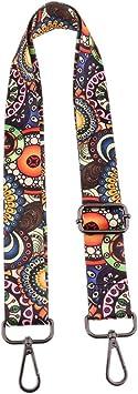 Purse Strap Replacement Guitar Style Multicolor Canvas Crossbody Strap for Handb