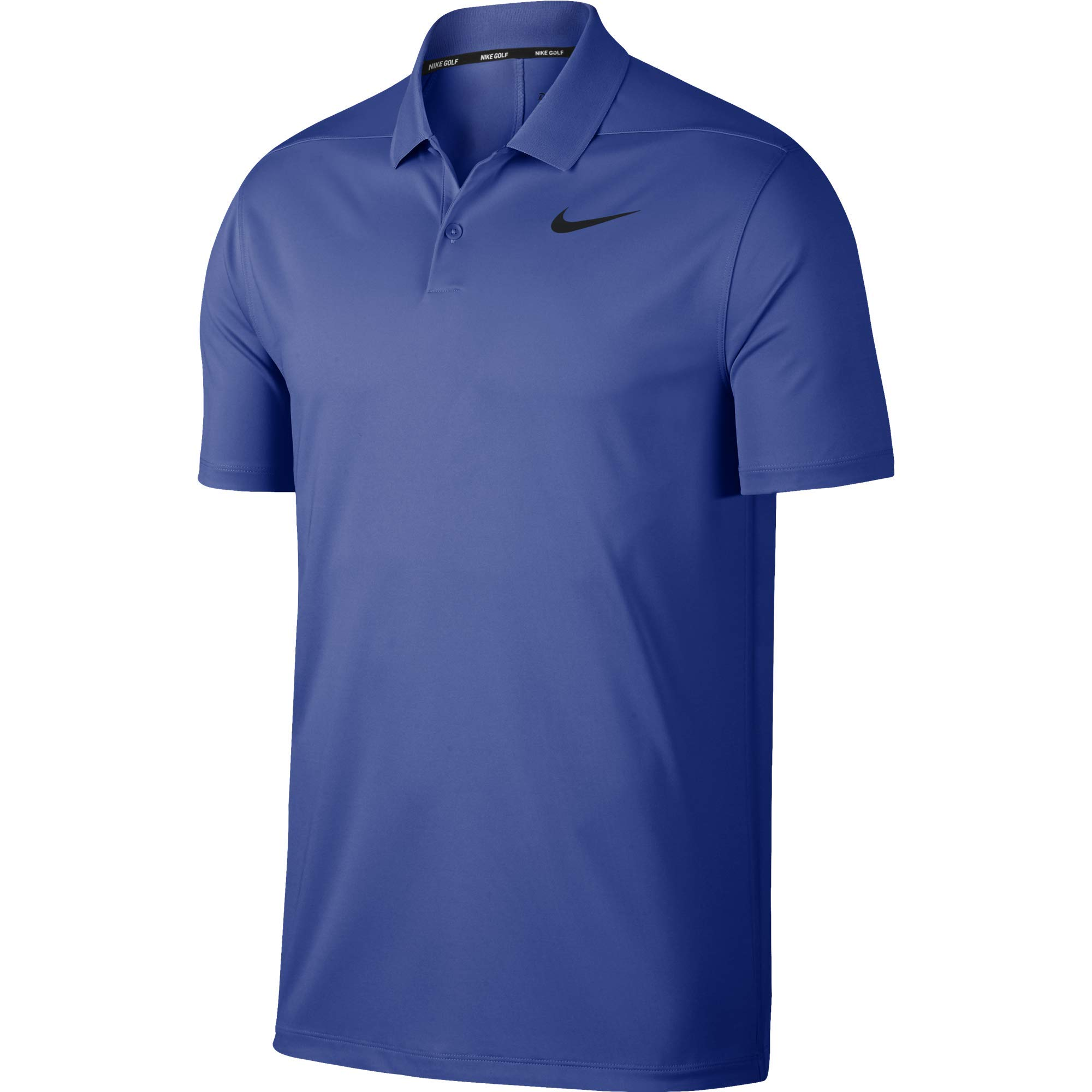 Nike Men's Dry Victory Polo Solid Left Chest, Game Royal/Black, Small