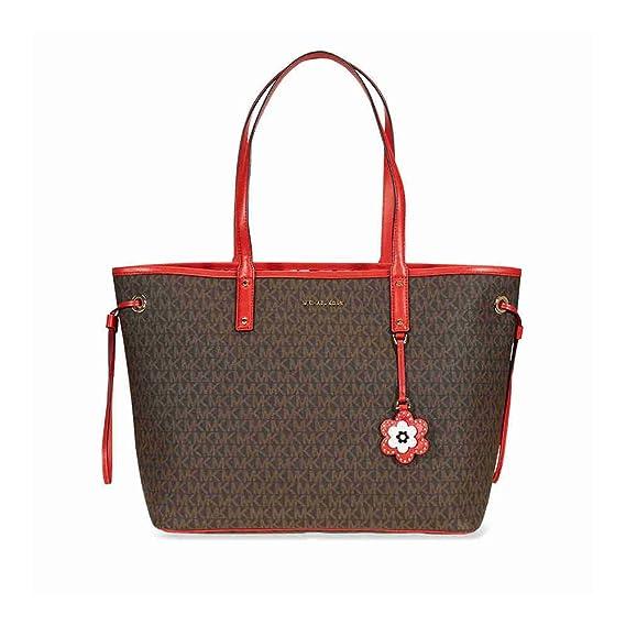 c6761897a159 Amazon.com: Michael Michael Kors Carter Canvas Large Reversible Tote  Handbag in Brown Begonia: Clothing