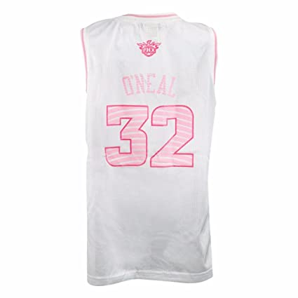 3d3b0731e0c adidas Shaquille O'Neal Phoenix Suns NBA White Official Fan Fashion Pink  Basketball Jersey for