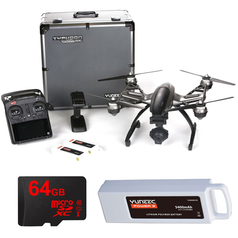 Yuneec Typhoon Q500 4K Quadcopter with CGO3 4K 3-Axis Gimbal...