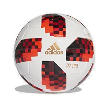 adidas 2018 World Cup Telstar Knockout Stage Mini Ball Size 1  White Red Black e6c07428b864