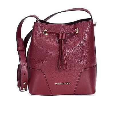 992be1e8ff87 Michael Kors Cary Pebbled Leather Crossbody Bag- Oxblood: Handbags:  Amazon.com