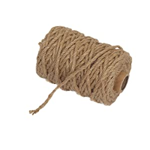 Vivifying 98 Feet 4mm 4 Ply Jute Twine, Natural Biodegradable Strong Jute Rope for Garden, Gifts, Crafts (Brown)