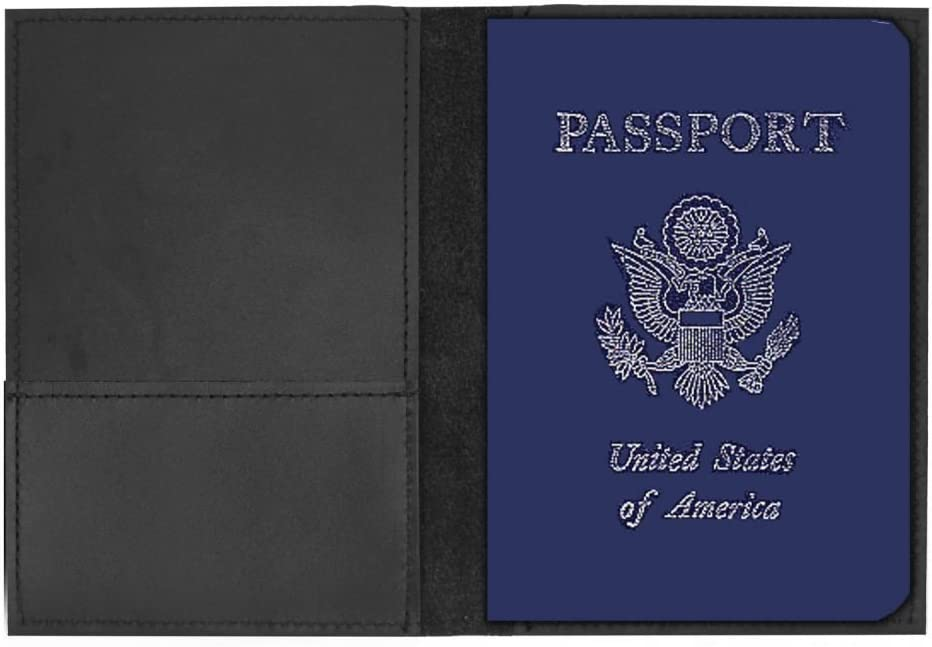 Pawprints /& Bones Genuine Leather Passport Cover Personalized
