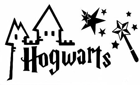 Pegatina Para Pared De Harry Potter Hogwarts Con Varita Y ...