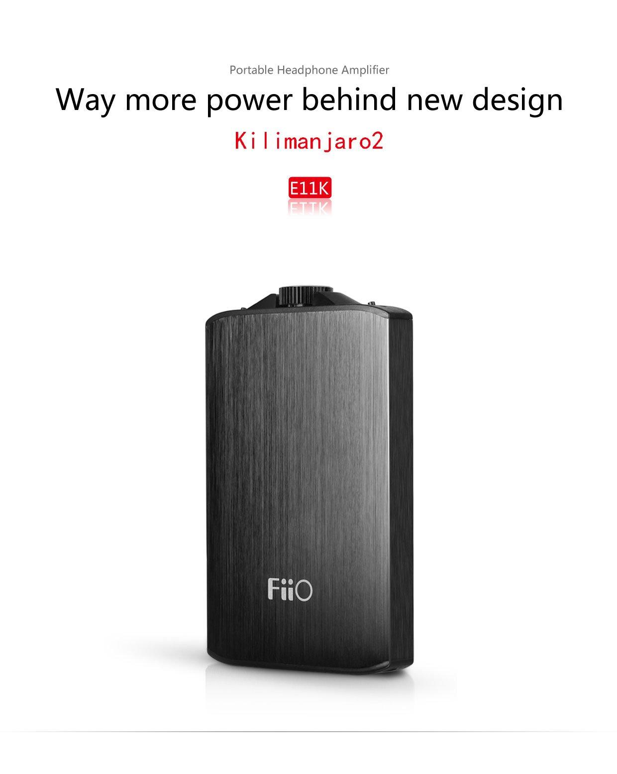 FiiO A3 (E11K E11) Kilimanjaro 2 Portable Headphone Amplifier with Extreme Audio 3.5mm Stereo to RCA Cable by FiiO (Image #2)