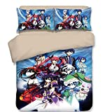 Japanese Anime Kurumi Bedding Sets, Polyester Home Textiles Best Gifts for Anime Fans Queen 3PC No Comforter