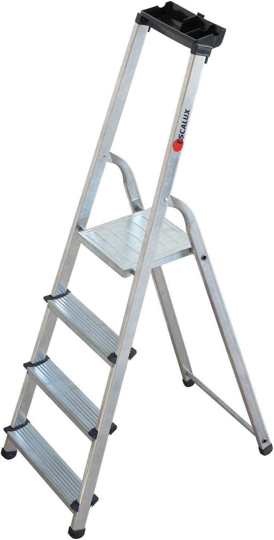 Escalux V29731 - Más Marchalu 4M Aluminio Escalera plegable 4 pasos con la herramienta Holder: Amazon.es: Bricolaje y herramientas