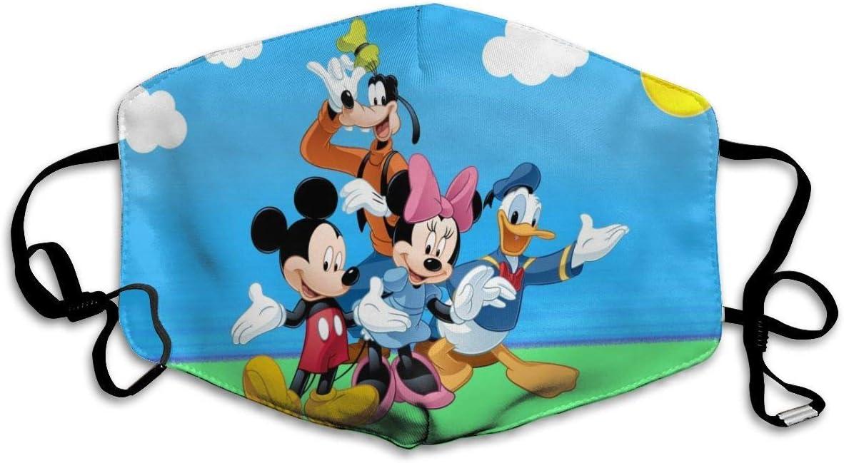 Donald Duck - Máscara de boca de Mickey Mouse y Goofy unisex, antipolvo, lavable, reutilizable, diseño de moda para niños, hombres, mujeres y adolescentes