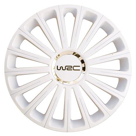 """WRC 007445 - Tapacubos (15"""", 4 unidades), color blanco"""