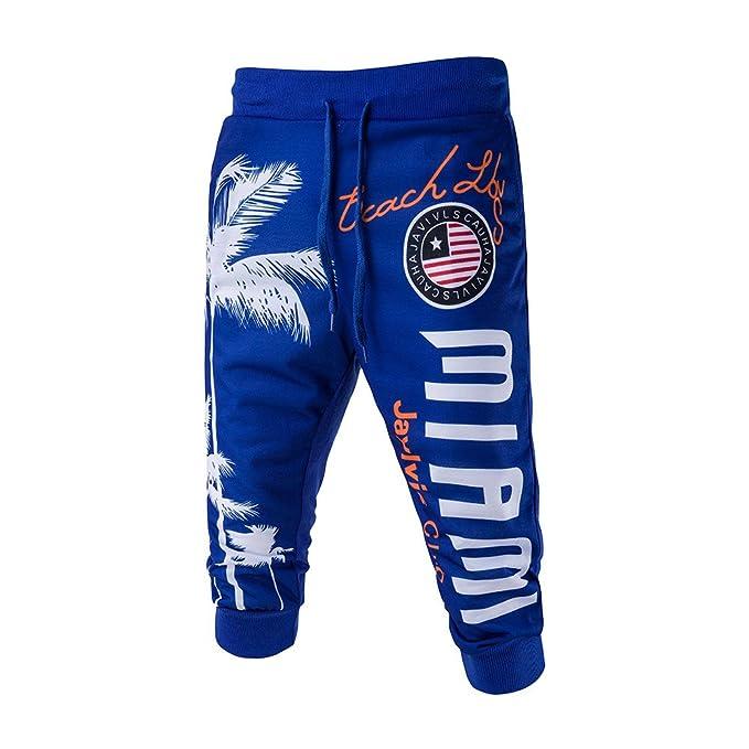 Pantalones Cortos para Hombres, ♚ Absolute Pantalones Cortos de los Hombres de Marea Pantalones Cortos Impresos digitalmente para Hombres Pantalones ...