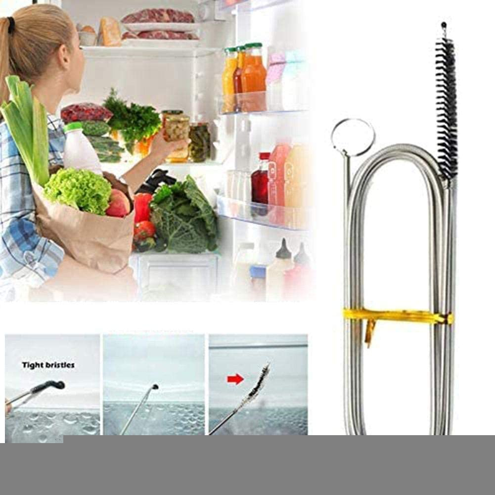 kit di strumenti per la pulizia del dispositivo di rimozione dellostruzione del tubo di scarico del frigorifero riutilizzabile per frigoriferi domestici Rimozione del foro di scarico del frigorifero