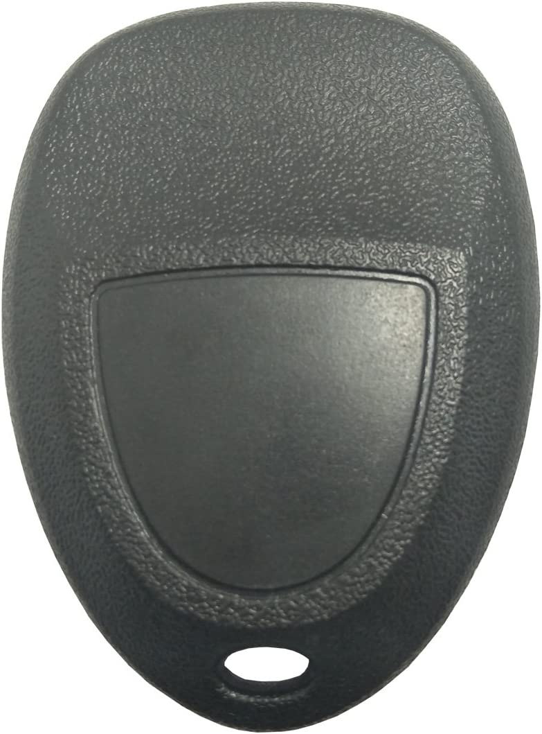 Replacement Key Fob Case Shell for GM GMC Chevrolet Chevy Buick 4 Buttons Keyless Entry Remote Car Key Casing with Button Pad Black