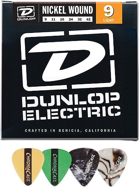 Jim Dunlop den0942 herida de níquel 9 – 42 cuerdas para guitarra ...