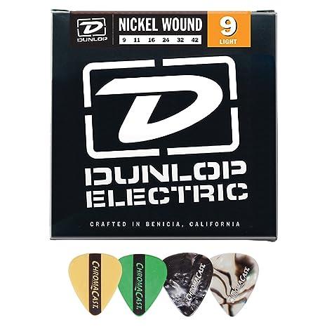 Jim Dunlop den0942 herida de níquel 9 – 42 cuerdas para guitarra eléctrica de calibre luz