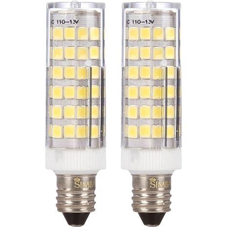 2 Pack] Simba iluminación TM LED E11 6 W 76smd2835 maíz luz ...