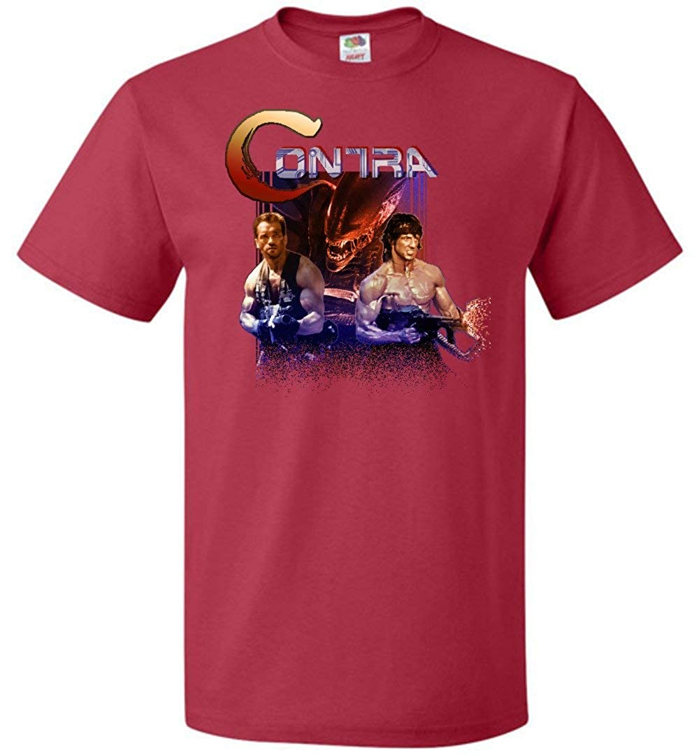 Contra Rip Off Unisex T-Shirt Adult Pop Culture Graphic Tee Nerdy Geeky Apparel