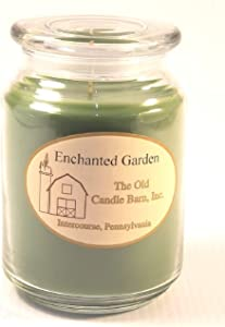 Old Candle Barn Enchanted Garden 26oz Jar Candle - Made in The USA - Blow Out The Light and Turn On The Candles!