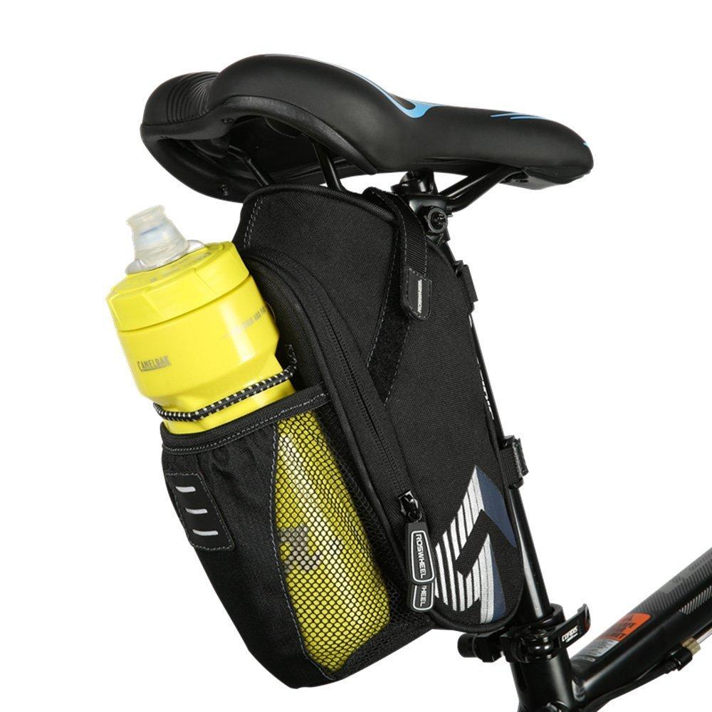 Intsun Bolso de bici,1.6L Monta/ña Camino Bicicleta Ciclismo Poli/éster Bolsa de sill/ín con bolsillo para botella de agua Bicicleta Asiento trasero para Montar Ciclismo Suministros