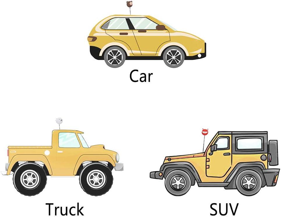 Set COGEEK Car Antenna Topper Cute Cartoon Foam Antenna Ball