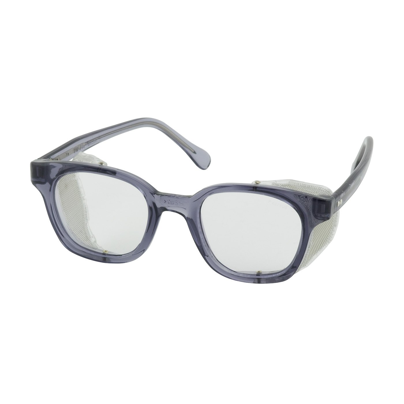 Bouton 249-5907-400 5900 Traditional Eyewear with Smoke Propionate Full Frame and Clear Anti-Scratch/Fog Lens by Bouton