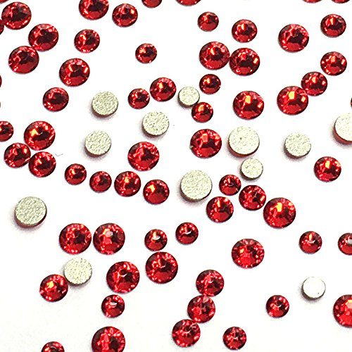 Flat Back Crystals Red Light - 2