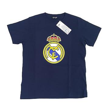 Camiseta Real Madrid Adulto Marino Escudo Centro [AB3911]: Amazon.es: Deportes y aire libre