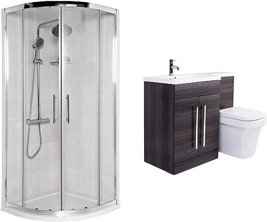Aquariss Avola – baño Completo con mampara de Ducha, semicircular ...