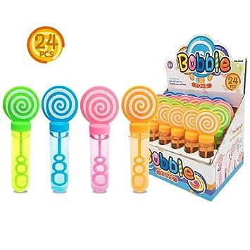 Amazon.com: Kyrieval - Juego de 24 mini varitas de burbujas ...