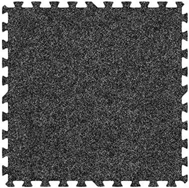 Alessco Eva発泡ゴム酷使プレミアムソフトカーペットセットダークグレー 10' x 10' SCDG1010