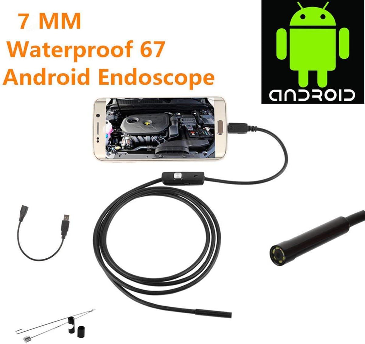 camellia pour cam/éra dendoscope /étanche Android Endoscope Android 8 LED Une Longue Longueur focale Effective Noir