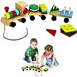 Dazzling Toys Kids Favorite Wooden Shapes Train