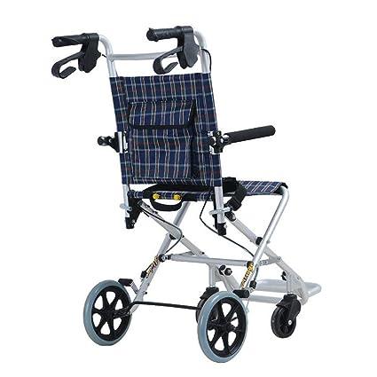 SXRNN Folding Portable 4 Whee Trolley Aluminio Ayuda con Movilidad para Silla de Ruedas para Adultos