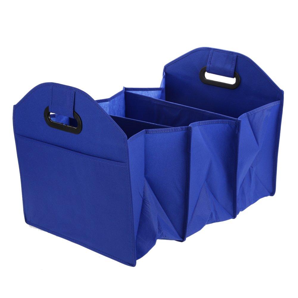 La Cabina Boîte de Rangement de Voiture Sac de Rangement Cartons Pliants Boîte à Outils Bleu