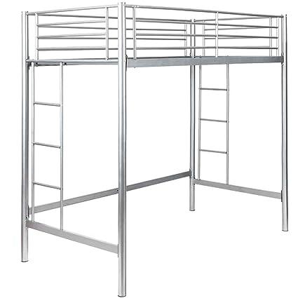 Amazon Com Safstar Twin Loft Bed Heavy Duty Metal Bunk Bed With