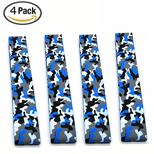 Camo Color Racket Tennis Overgrip Roll,Absorb Moisture and Anti-slip Overgrip Grips Tape for Squash,Tennis,Badminton,Rackets ,Bat Fishing Rod ,Softball and Tee Ball (4Blue)