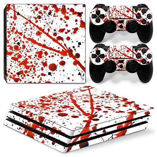 FriendlyTomato PS4 Pro Console and DualShock 4 Controller Skin Set - Blood - PlayStation 4 Pro Vinyl