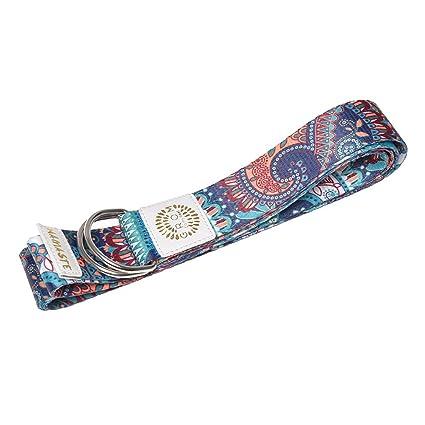 MEYINI Cinturones de Yoga de 8 pies/6 pies de Largo ...
