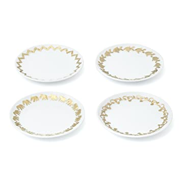 Lilly Pulitzer for Target Porcelain Dessert Plates with 18kt Gold Embossed Rim - Set of 4  sc 1 st  Amazon.com & Amazon.com | Lilly Pulitzer for Target Porcelain Dessert Plates with ...
