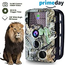 """【2018 NEW】Field Camera 16MP 1080P 2.4"""" LCD Sensor Game & Wildlife Hunting Camera with Night Vision 46 PCS IR LED 850NM Upgrading IR LED Night Vision up to 65ft,120°Wide Angle 0.2s Trigger Prime Gift"""
