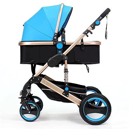 QWM-Las bicicletas infantiles para bebés Carrito de bebé recién nacido plegable puede sentarse y acostarse ...