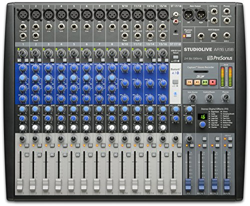 PreSonus StudioLive AR16 USB 18-Channel hybrid Performance and Recording Mixer by PreSonus