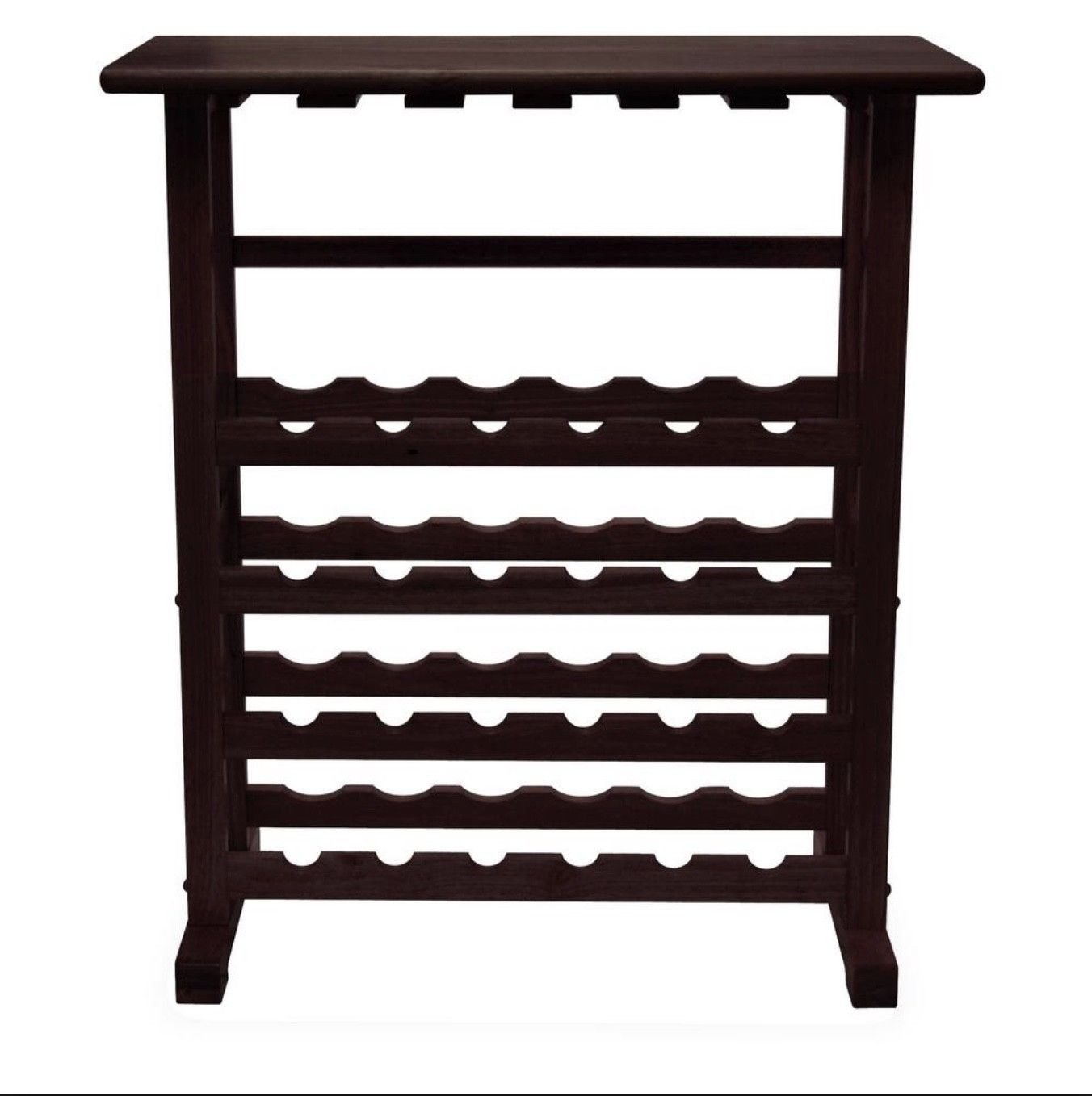 Wood Wine Rack 24 Bottle Glass Hanger Espresso Holder Storage Shelf Display by RX-789 (Image #3)