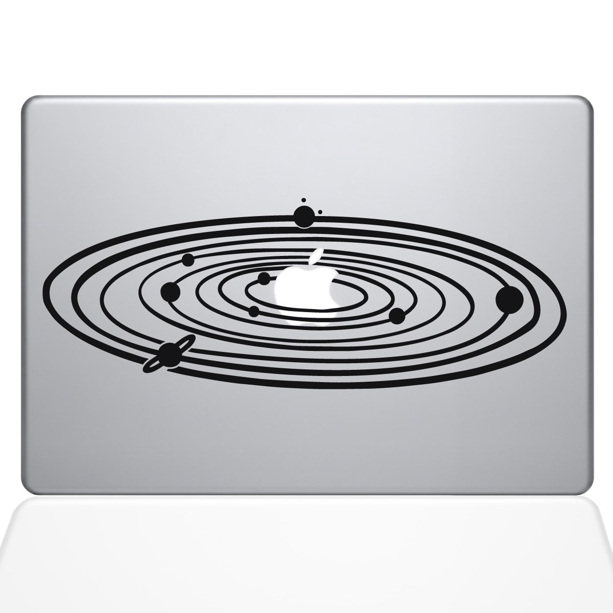The Decal Guru 2067-MAC-13P-BLA Solar System Decal Vinyl Sticker, Black, 13'' MacBook Pro (2015 & Older)