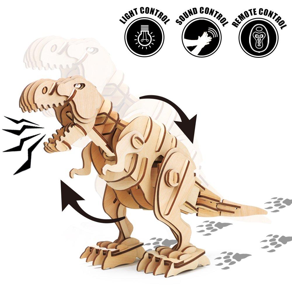 有名な高級ブランド ROKR Wooden Dinosaur Toy Figureリモート制御さ ROKR 8 – Girls Real movement-perfect Gift for Boys and Girls 8 9 D200N B0793K6N37, 住まコレ:201681e1 --- arcego.dominiotemporario.com