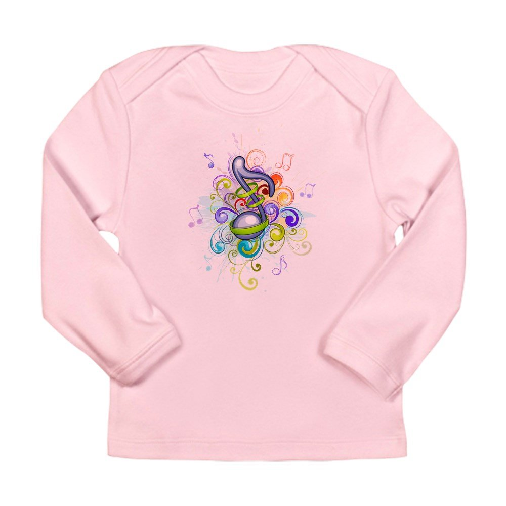 Petal Pink 18 To 24 Months Truly Teague Long Sleeve Infant T-Shirt Music Note colorful Burst