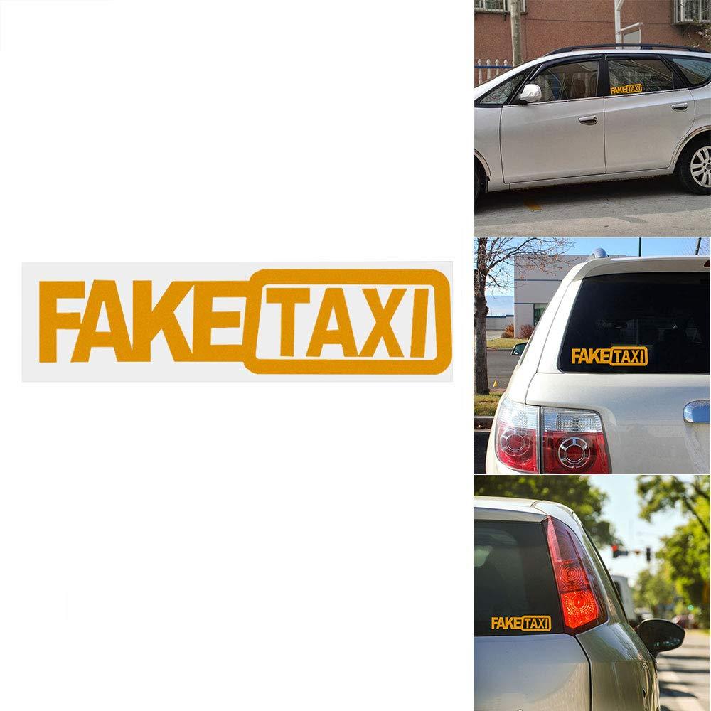 2pcs ONEVER Autoadesivo Drift Turbo Hoon FALSO Race Car TAXI divertente Sticker Decal