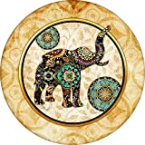 Best Custom Accessories Tire Covers - Asian print Elephant Spare Tire Cover for Jeep Review